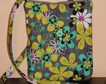 Hip Bag  Crossbody  Hipster Quilted  Bag by Quilted Creations By Me
