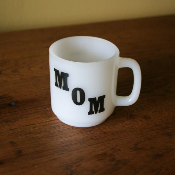Mid Century Glasbake Coffee Mug - Mom