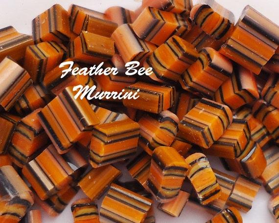 Feather Bee CoE 104 glass Handmade murrini
