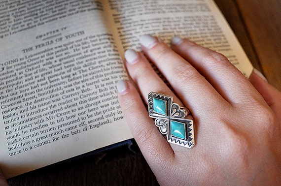Sterling Silver Turquoise Statement Ring