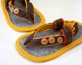 Baby Sandals PDF Sewing Pattern- 3 Button Baby Thong Sandals for boys or girls Sizes Newborn-18 months