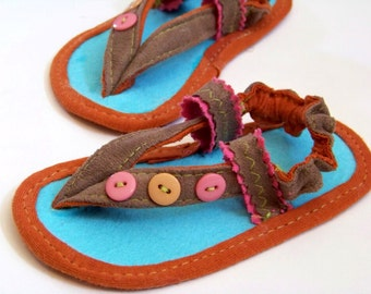 Baby Sandals Sewing Pattern for Baby Boys and Baby Girls Thong Sandals for baby