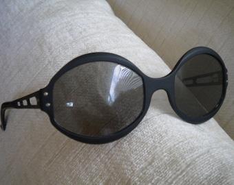 MOD Matte Black Metal Vintage French Eyeglass Frames