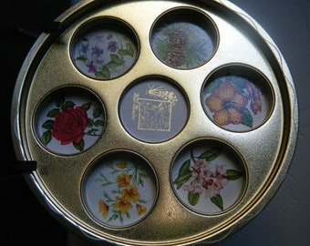 Mid Century NEW MEXICO Souvenir Tray, Drink Server, State Flowers, Perfect for Spring and Summer