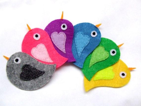Felt Appliques Felt Animals Felt Birds Fabric Appliques