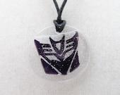 Purple Decepticon adjustible cord necklace