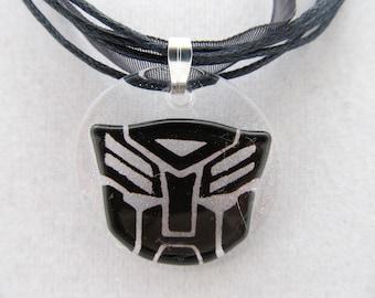 Black Lace Autobot Necklace