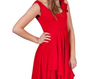 Women's CHIT-Chat Dress- Sizes Medium and Large in Red