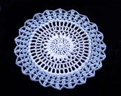 Blue Ice Crochet Lace Accent Doily, Fresh Home Decor, Handmade
