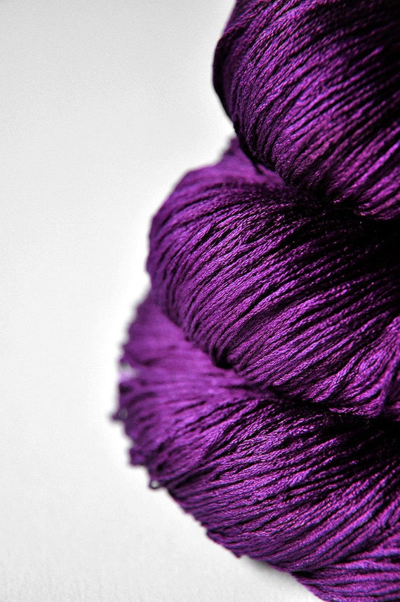Poisoned by love Silk Lace Yarn by DyeForYarn on Etsy