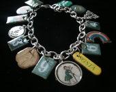 vintage girl scout charm bracelet