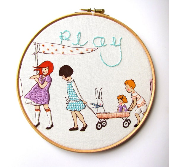 Displayed In This Embroidery Hoop Is A Fantastic