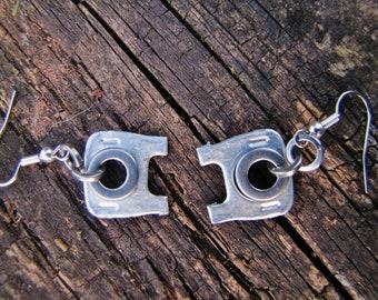 Dangle Earrings, Pull Tab and Washer Earrings, Lightweight, Little Elephants, Recycled, Eco Friendly, Small dangle Earrings