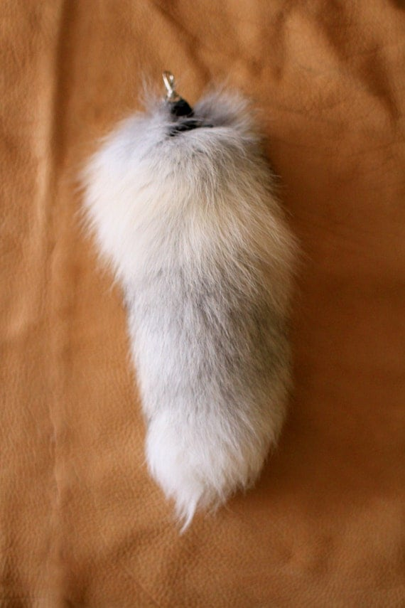 Moving Shop Sale - Recycled Golden Island Fox Fur Tail for Keychain or Belt Loops