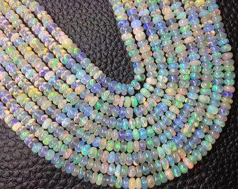 5x15 Inch Long, AAA Quality, ETHIOPIAN Opal Smooth Rondelles,2.75-3.5mm size,Superb Promotional Price Offer