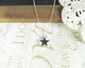 STAR petitie star charm necklace (silver)