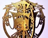3-D Bells-a-Ringing Wood Ornament