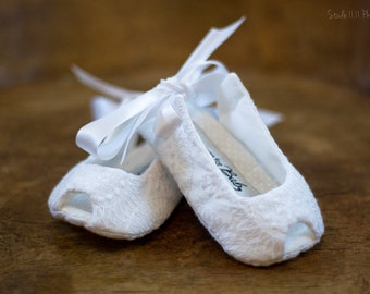 Baby girl shoes white christening baptism shoes toddler girl shoes baby sandals girls sandals - Lily