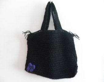Crochet Bag with satin lining