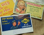 Sunoco Ink Blotters Vintage Advertising Mountville Rheems PA by Quilted Nest