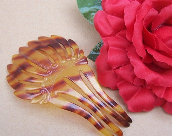 Vintage hair comb Victorian faux tortoiseshell Spanish comb hair accessory hair pin hair barrette hair jewelry headdress hair accessory