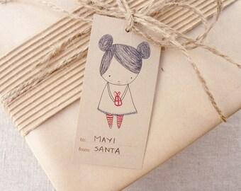 Holiday Gift Tags . Digital Collection . Mayi Carles