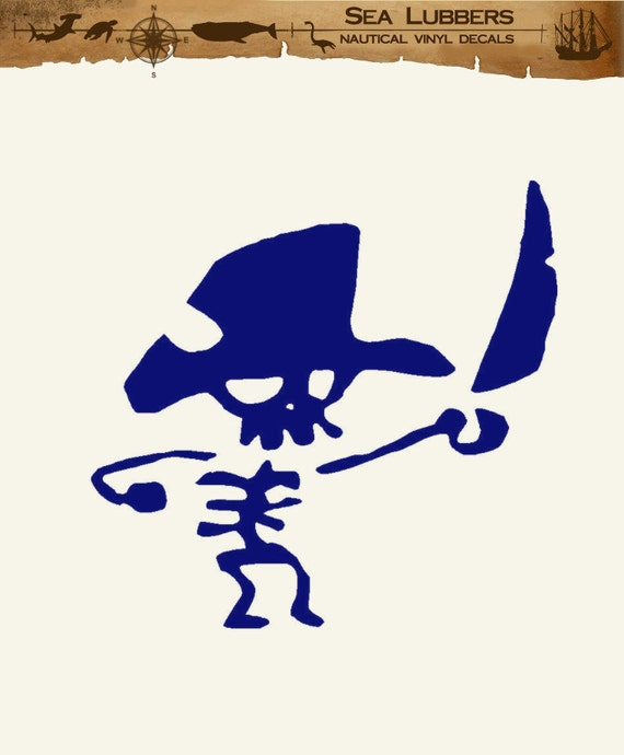 Pirate Decor Vinyl Wall Decal Removable wall art sticker nautical beach decorations