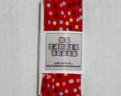 5 yards 3/4 inch Single Fold Red Polka Dot Bias Tape - Moda
