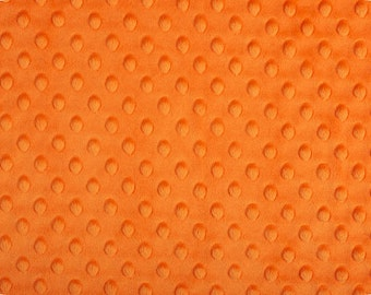 Orange Cuddle Dimple/ Dot Minky (Minkee), Cuddle Dimple by Shannon Fabrics, 1 yard