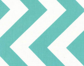 REMNANT! Aqua Chevron from the Half Moon Modern Collection, by Moda, 3/8 yard