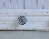 Glass Doorknobs (3) on Shabby Chic White Wood