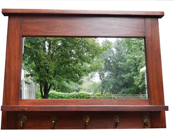 Free Shipping dillon mirror entry organizer mirror all hardwood .. 30 inches wide x 21 high x 4 deep