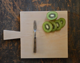 Classic square maple cutting board for cheese, bread, fruit or charcuterie a perfect gift