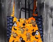 Halloween Quilted Hobo style handbag Cats, Mice and Jack o lantern  Print
