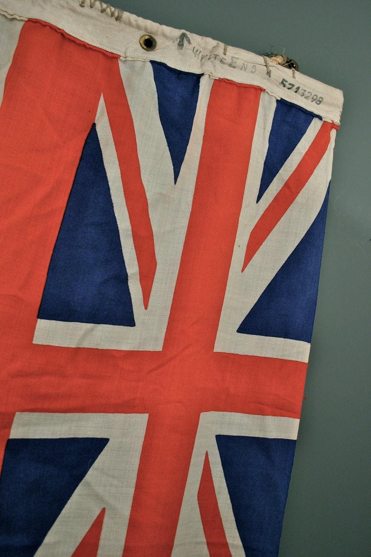 Vintage British Ensign Union Jack Flag