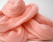 """Ashland Bay Solid Colored Merino for Spinning or Felting """"Salmon""""  4 oz."""