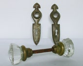 Glass Door Knobs and Brass Backplates
