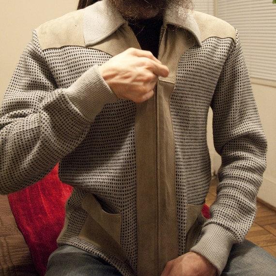 Vintage Men's Zip Up Cardigan Jacket