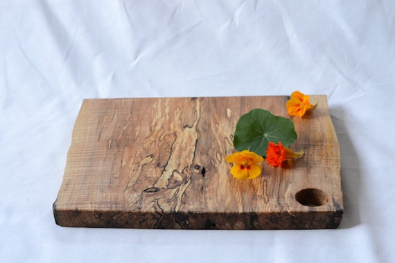 Rustic Serving Board, Natural Edge Salvaged Wood 662, Ready to Ship