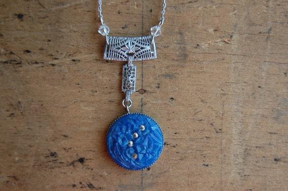 Art Deco necklace / 1930s necklace / SWISS LAPIS