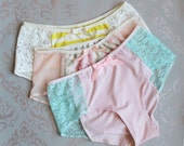 Three Pairs for Seventy Dollars Beautiful Handmade Hipster Panties Made to Order