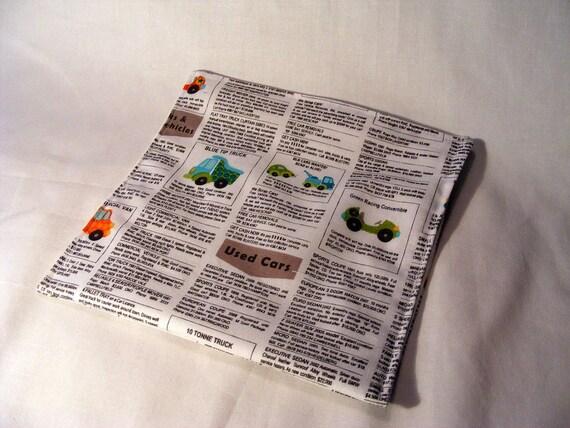 reusable sandwich bag newspaper school lunch kids lunch bag lunch mat car classified fabric