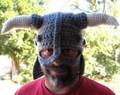 Skyrim Hat Iron Dovahkiin Helmet Hat Viking Hat Horn Hat Crochet Fandom Novelty Hat Oblivion Dragon Hat Crochet Handmade