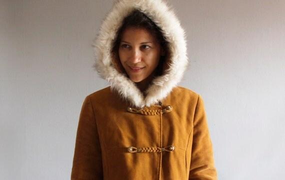 1970's cinnamon spice coat