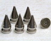 10 sets 8x13mm Nickel CONE screwback spikes Studs