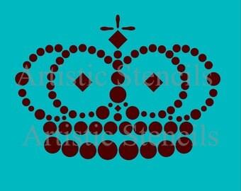 STENCIL Royal Crown No 3 4x6