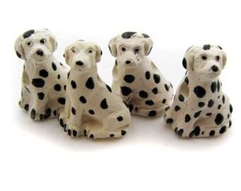 4 Large Dalmatian Beads