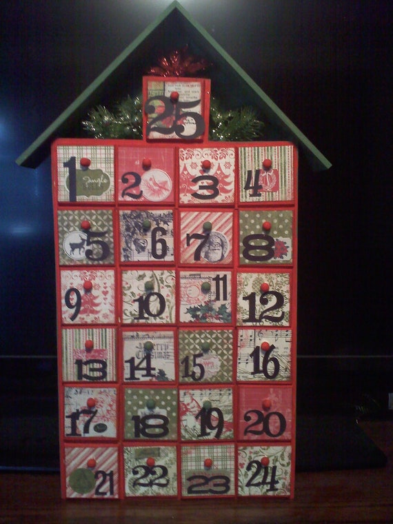 Wooden vintage look advent calendar How to build a wooden advent calendar