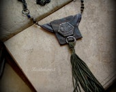 Walk through this world.  Tribal assemblage talisman necklace