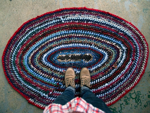 Oval Recycled Rag Rug